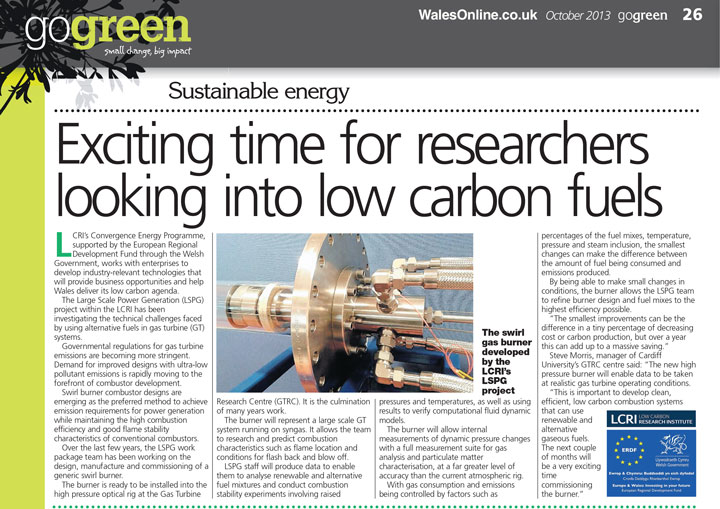 Exciting time for researchers looking into low carbon fuels
