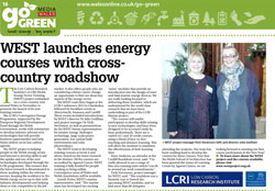 WEST launches energy courses with cross-country roadshow