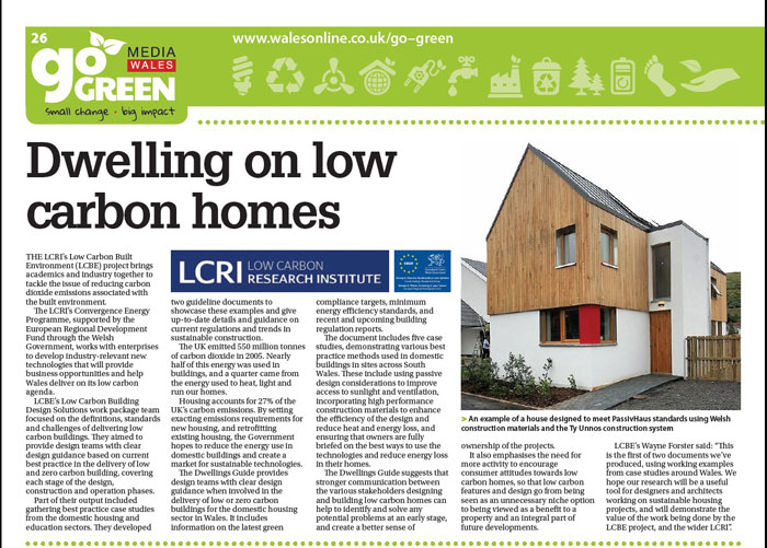 Dwelling on low carbon homes